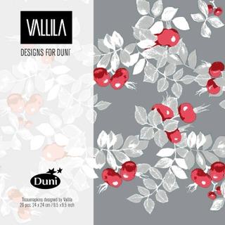Duni Vallila 24cm 3-krs Ruusunen lautasliina 20kpl