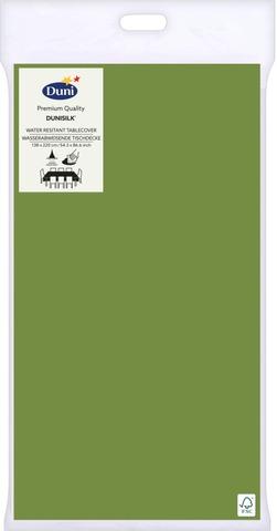 Duni Dunisilk+ 138X220cm Lehdenvihreä Pöytäliina