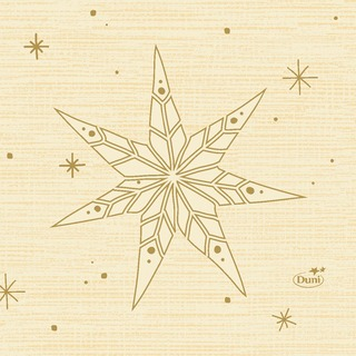 Duni 20kpl 24cm 3-krs Star Stories vanilja lautasliina