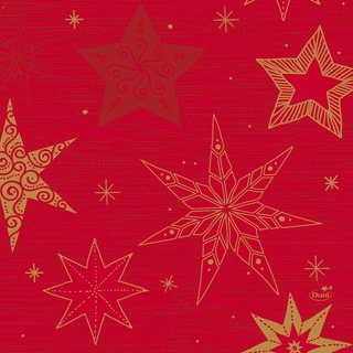 Duni 20kpl 33cm 3-krs Star Stories punainen lautasliina