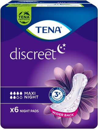TENA yöside Discreet Maxi Night 6 kpl