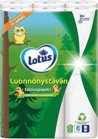 Lotus Luonnonystävän Talouspyyhe 12 Rll