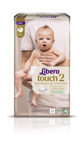 Libero Touch Teippivaippa Koko 2, 3-6Kg 64 Kpl