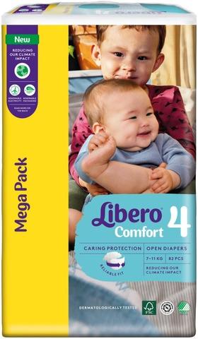 Libero Comfort teippivaippa koko 4, 7-11 kg, 82 kpl