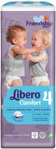 Libero Comfort Teippivaippa Koko 4, 52Kpl, 7-11Kg