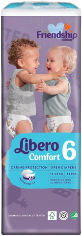 Libero Comfort teippivaippa koko 6, 44kpl, 13-20kg