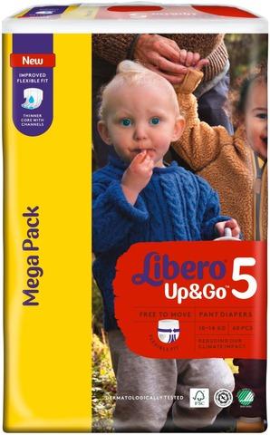 Libero Up&Go Housuvaippa Koko 5, 10-14 Kg, 60 Kpl