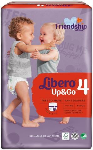 Libero Up&Go Housuvaippa Koko 4, 7-11 Kg, 44 Kpl