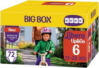 Libero Up&Go Housuvaippa Koko 6, 72 Kpl, 13-20 Kg