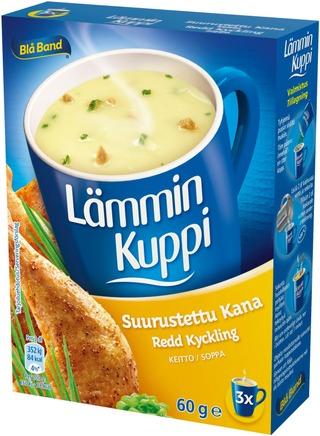 Blå Band Lämmin Kuppi Laktoositon Suurustettu Kanakeitto 3X20g
