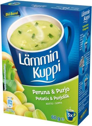 Blå Band Lämmin Kuppi Laktoositon Peruna-Purjokeitto 3X20g