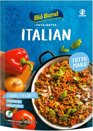 Blå Band Laktoositon Italian Pata Spagetti-Kasvis-Mausteseos 150G