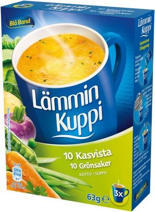 Blå Band Lämmin Kuppi Laktoositon 10 Kasvista Keitto 3X21g