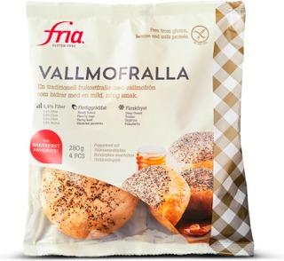 Fria Unikkosämpylä 280G/4Kpl Gluteeniton Pakaste
