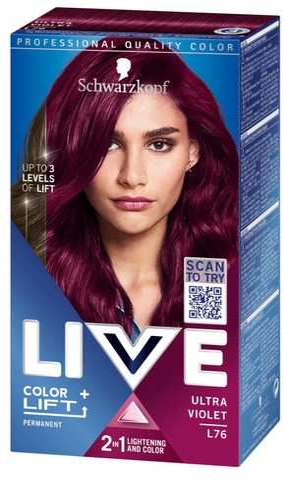 Schwarzkopf Live L76 Ultra Violet Hiusväri