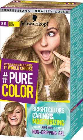 Schwarzkopf #Purecolor 8.0 True Blond Hiusväri