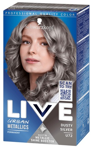 Schwarzkopf Live Urban Metallics U72 Dusty Silver Hiusväri