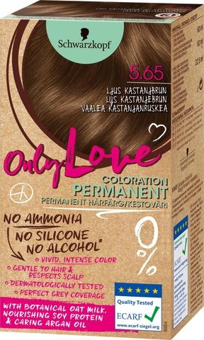 Schwarzkopf Only Love 5.65 Hiusväri Vaalea Kastanjanruskea
