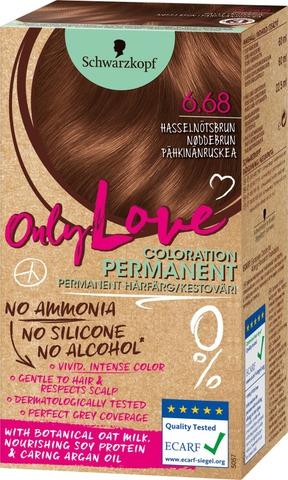 Schwarzkopf Only Love 6.68 Hiusväri Pähkinänruskea