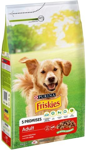 Friskies 4Kg Adult Runsaasti Lihaa Koiranruoka