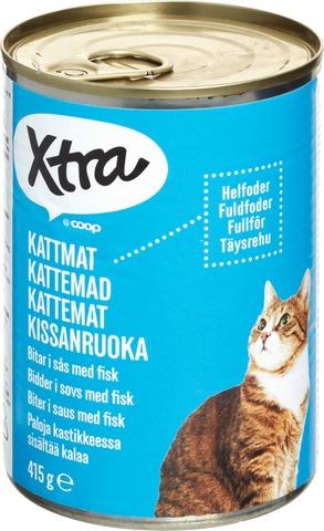 Xtra 415G Kissanruoka Paloja Kastikkeessa Sisältää Kalaa