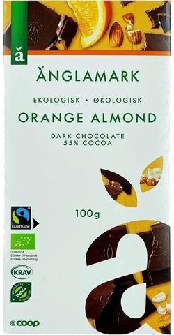 Änglamark 100g luomu tumma suklaa 55% appelsiini