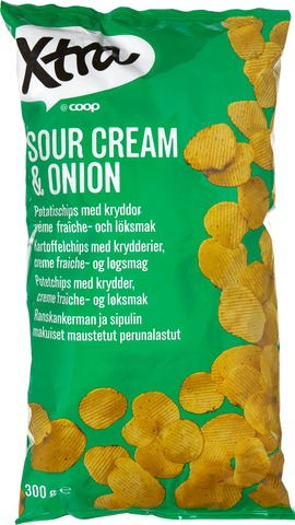 Xtra 300G Sourcream & Onion Perunalastut