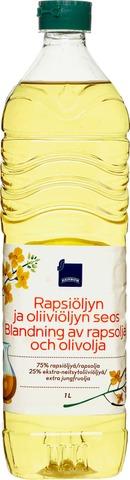 Rainbow Rapsiöljyn ja oliiviöljyn seos 1 l