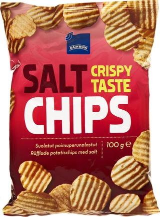 Rainbow 100g Chips suolatut perunalastut