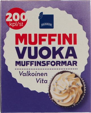 Rainbow Muffinivuoka 200Kpl