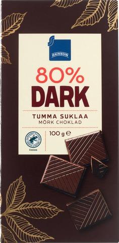 Rainbow 100G Dark 80% Tumma Suklaa