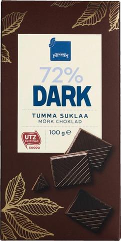 Rainbow 100G Dark 72% Tumma Suklaa
