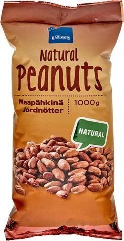 Rainbow 1Kg Natural Peanuts Maapähkinä