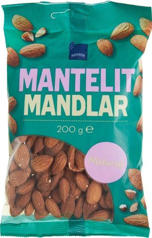 Rainbow 200G Natural Almonds Manteli