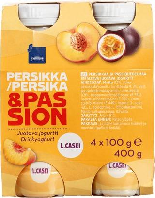 Rainbow Juotava Persikka-Passionjogurtti 4X100g