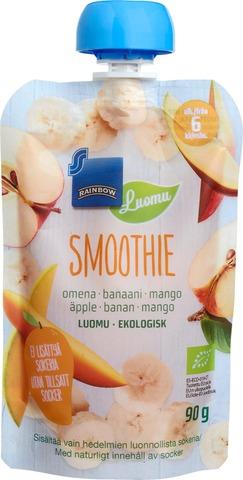 Hedelmäsmoothie Luomu 90G Omena-Banaani-Mango