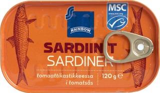 Rainbow 120G Sardiinit Tomaattikastikkeessa