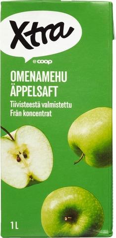 Omenamehu Valmistettu Täysmehutiivisteestä. Sisältää C-Vitamiinia.
