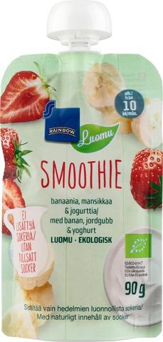 Rainbow 90G Smoothie Banaani-Mansikka-Jogurtti Luomu