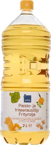Paisto- Ja Friteerausöljy Rapsi- Ja Auringonkukkaöljy