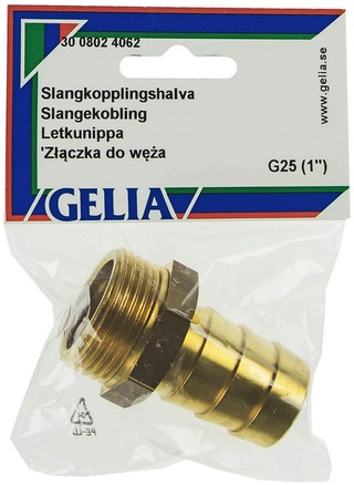 Gelia Letkunippa Ulkokierre R25x25mm Messinki