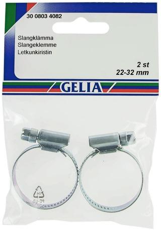 Gelia letkunkiristin galvanoitu 22-32mm/12mm 2kpl