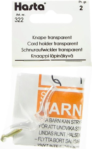 Hasta Knaappi Läpinäkyvä 5,5Cm
