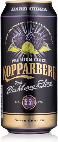 Kopparberg Hard Cider Blackberry & Lime 5,5%, Karhunvatukan & Limen Makuinen Omenasiideri Tölkki 44Cl