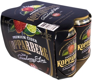 6 X Kopparberg Strawberry & Lime 4,0% Omenasiideri Tölkki 33Cl