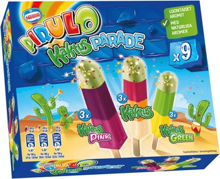 Pirulo Kaktus Parade Limonadijääpuikko Monipakkaus 9X48g/45Ml