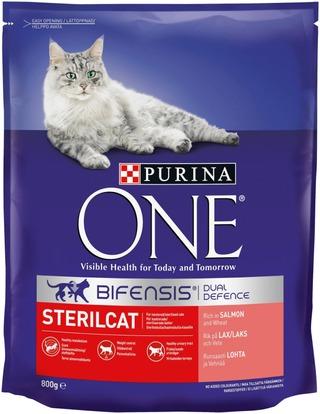 Purina One 800g Sterilcat Runsaasti Lohta ja Vehnää kissanruoka