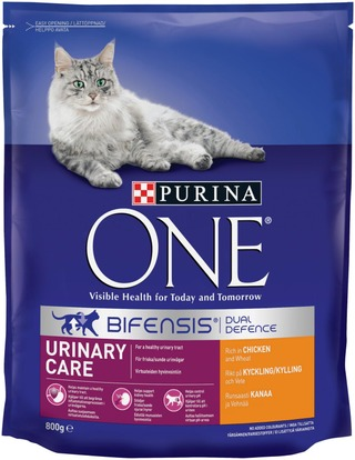 Purina One 800g Urinary Care Runsaasti Kanaa ja Vehnää kissanruoka