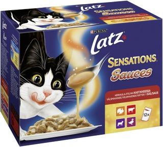 Latz 12x100g Sensations Sauces Herkkulajitelma Kastikkeessa lajitelma 4 varianttia kissanruoka