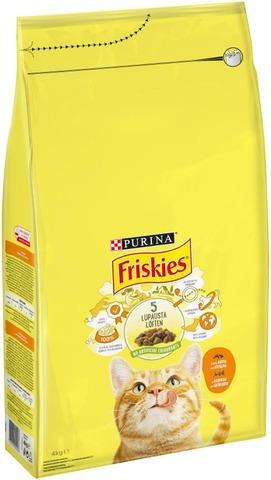 Friskies 4kg Adult Kanaa ja Vihanneksia kissanruoka